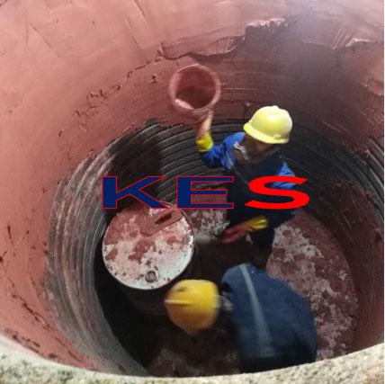 线圈胶泥施工中